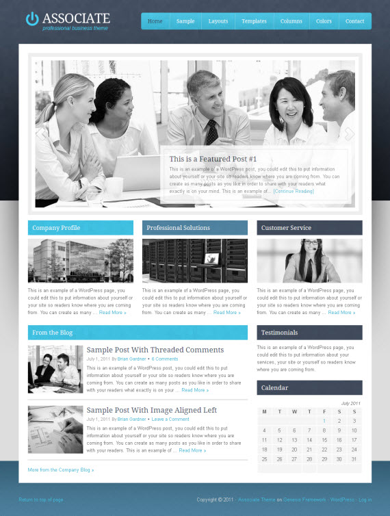 Associate Child WordPress Theme