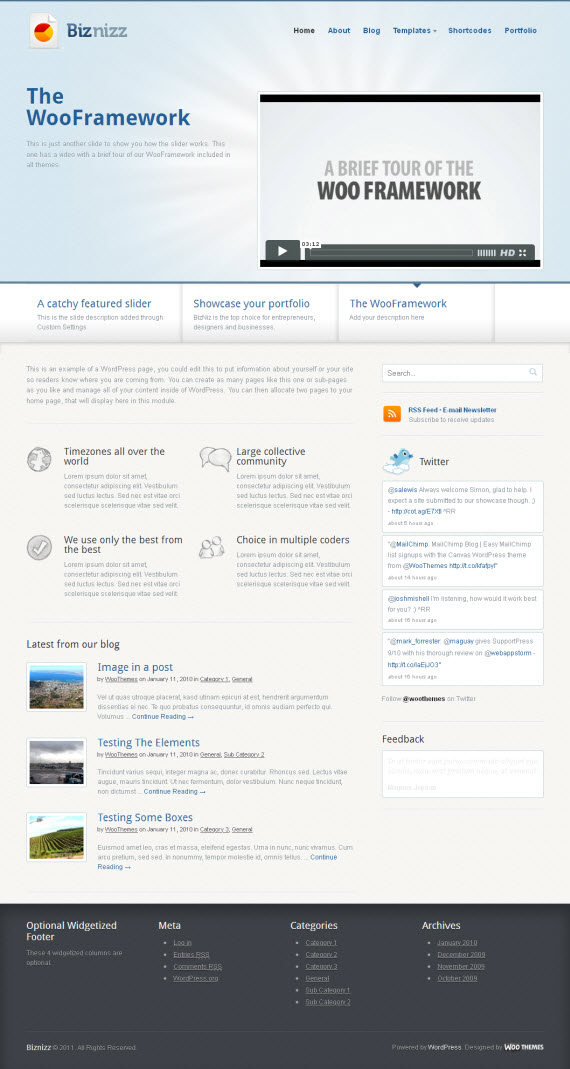 Biznizz WordPress Theme