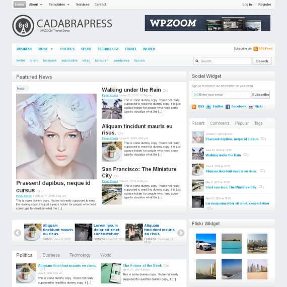CadabraPress WordPress Theme