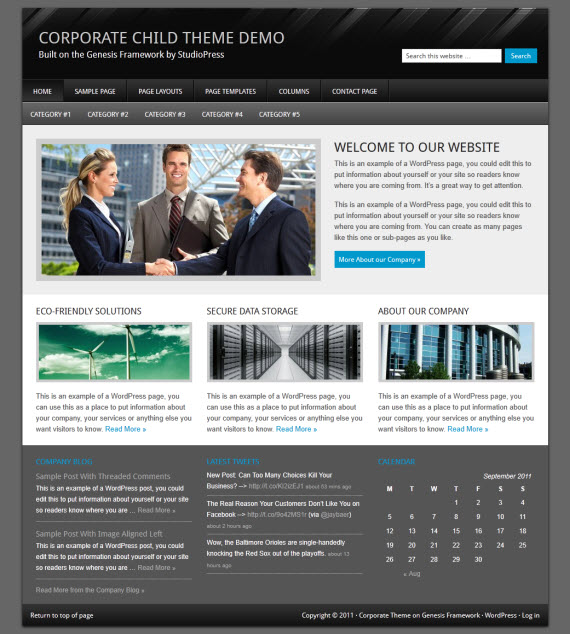 Corporate Child Theme
