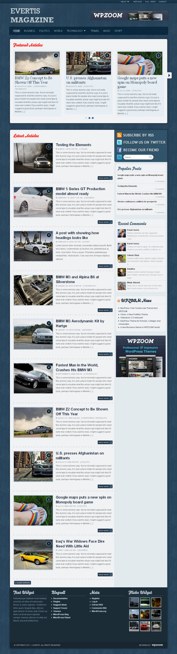 Evertis WordPress Theme