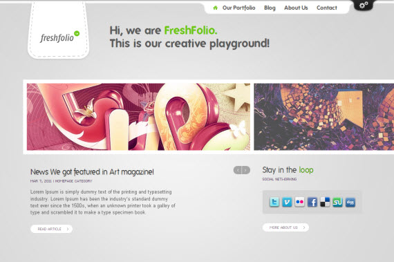 Freshfolio WordPress Theme