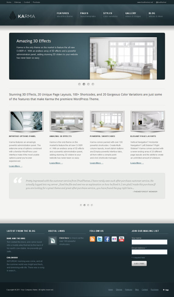 Karma WordPress Theme