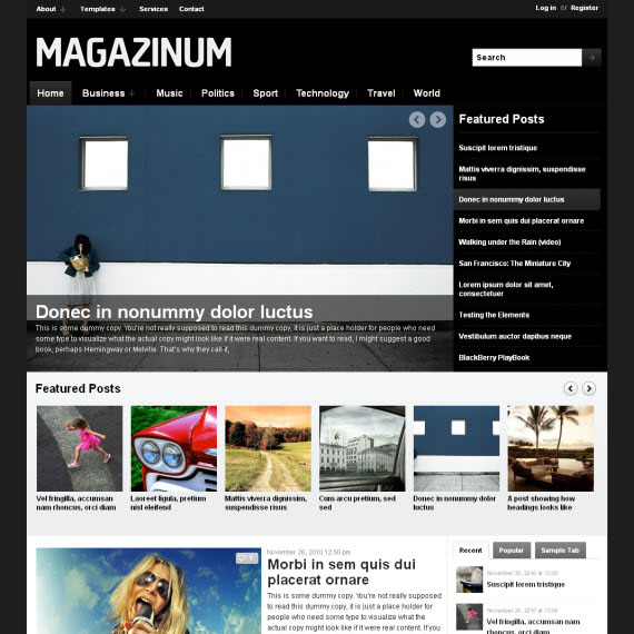 Magazinum WordPress Theme