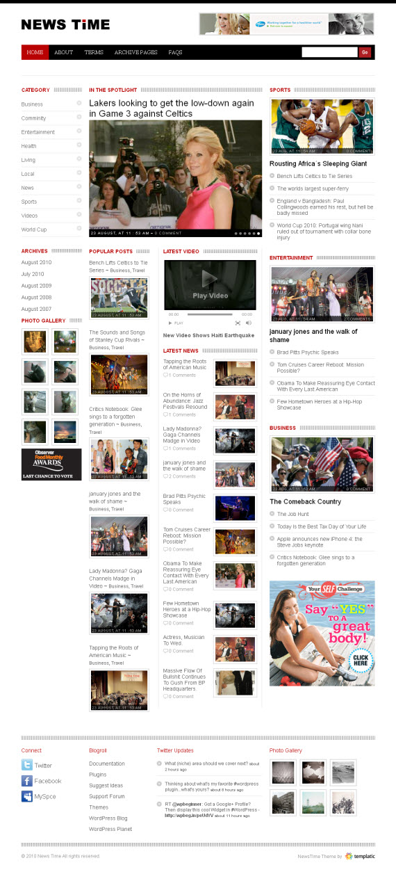 NewsTime WordPress Theme