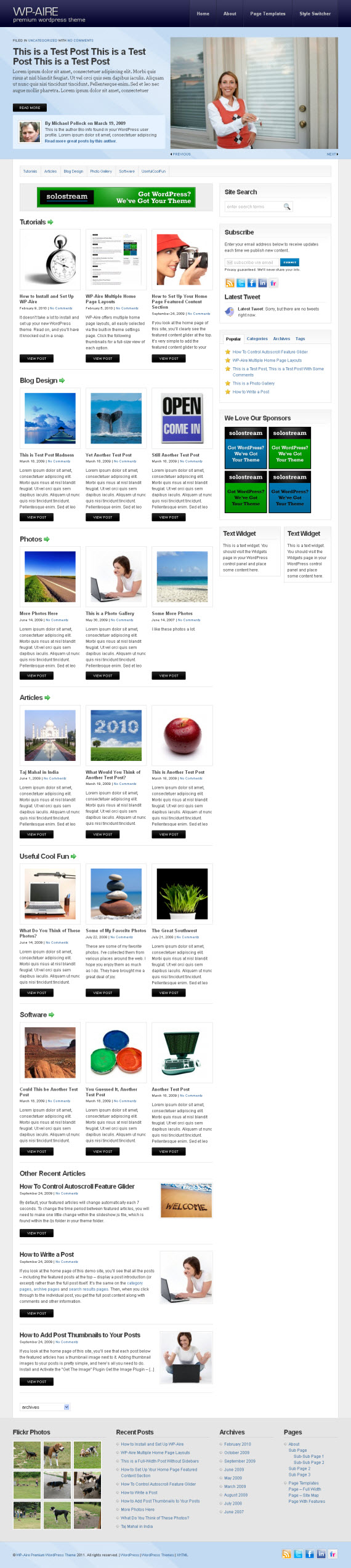 WP-Aire WordPress Theme