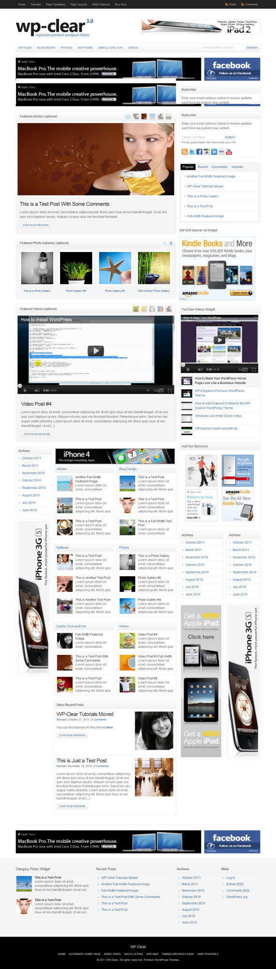 WP-Clear WordPress Theme