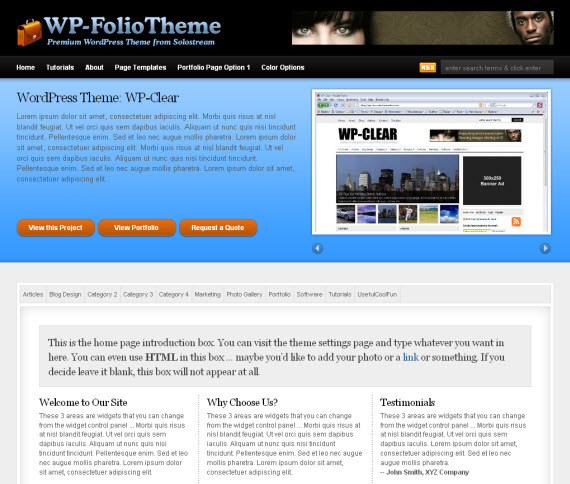 WP-FolioTheme WordPress Theme