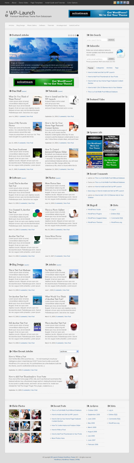 WP-Launch WordPress Theme