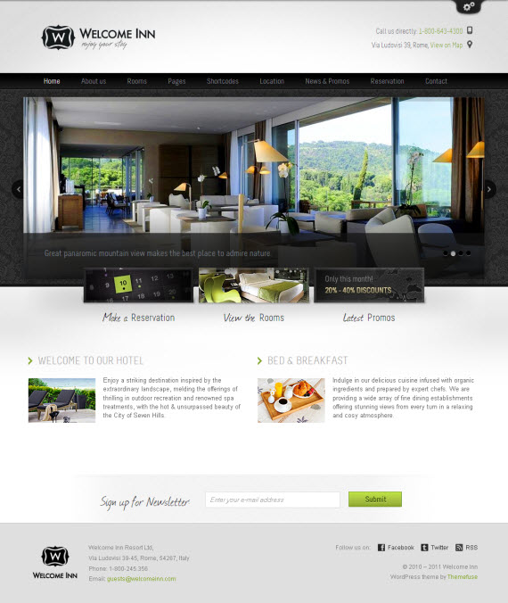 Welcome Inn WordPress Theme