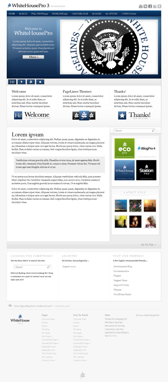 WhiteHousePro3 WordPress Theme