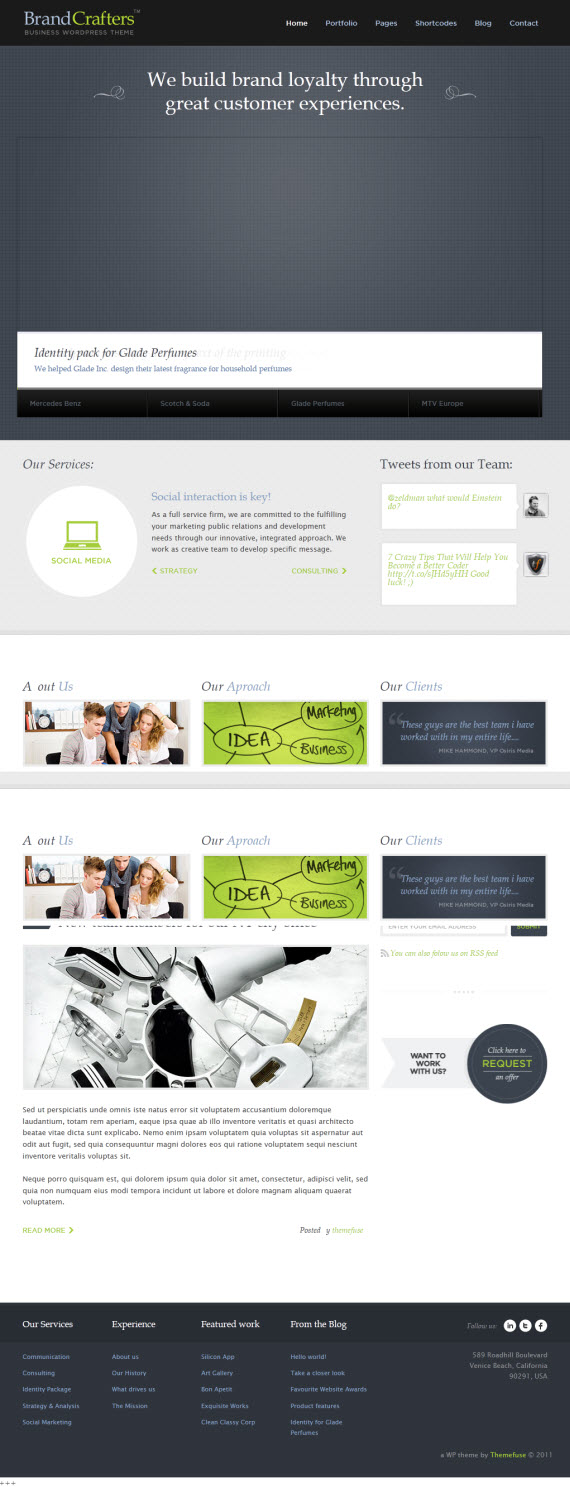 Brand Crafters WordPress Theme