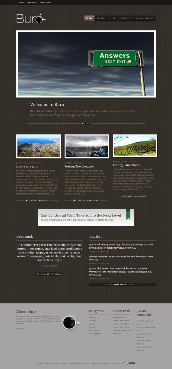 Buro WordPress Theme