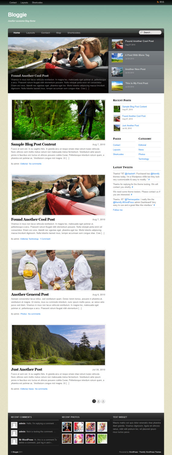 Bloggie WordPress Theme