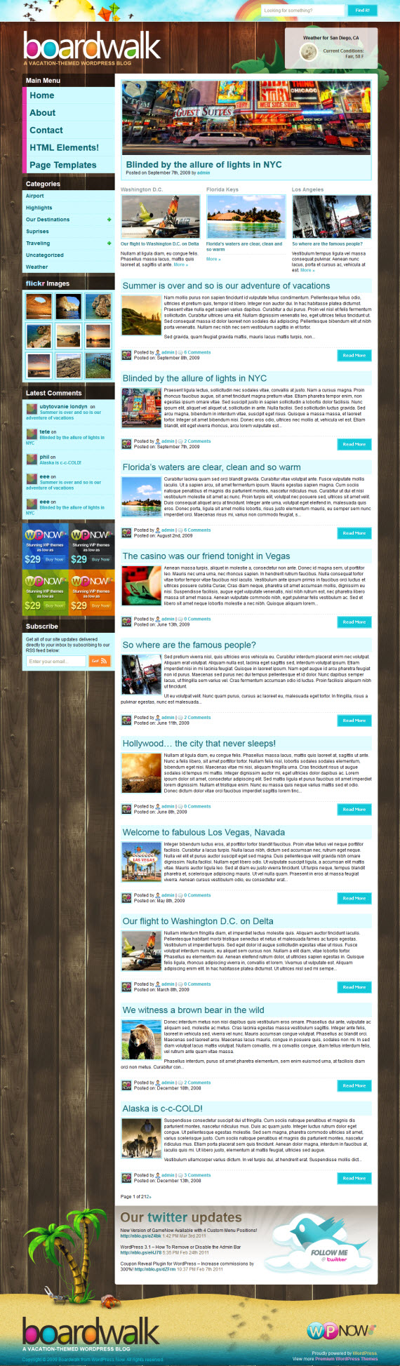 Boardwalk WordPress Theme