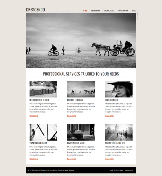 Crescendo WordPress Theme