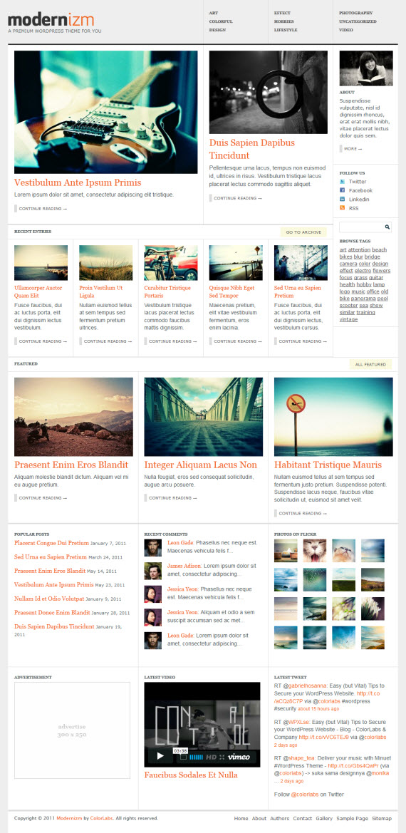 Modernizm WordPress Theme