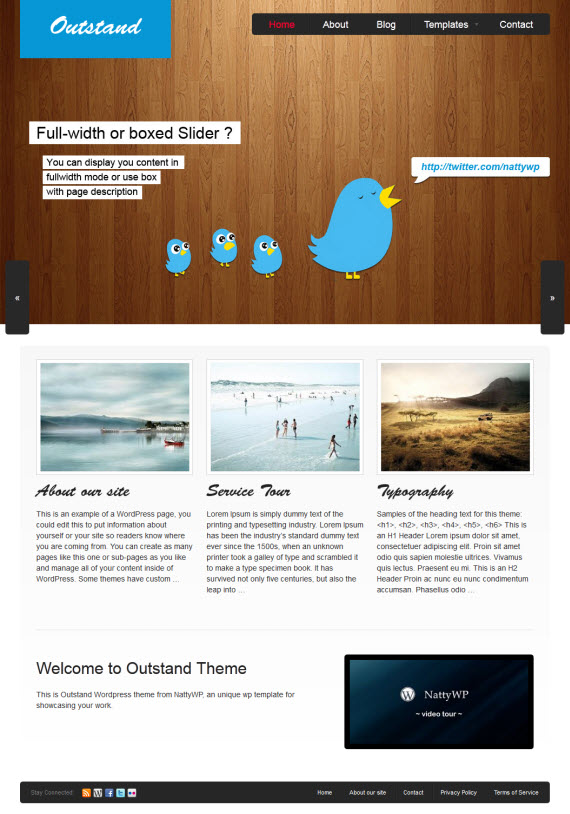 Outstand WordPress Theme