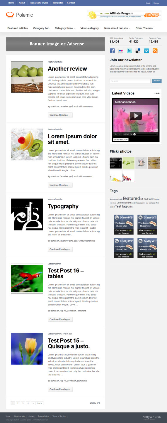 Polemic WordPress Theme