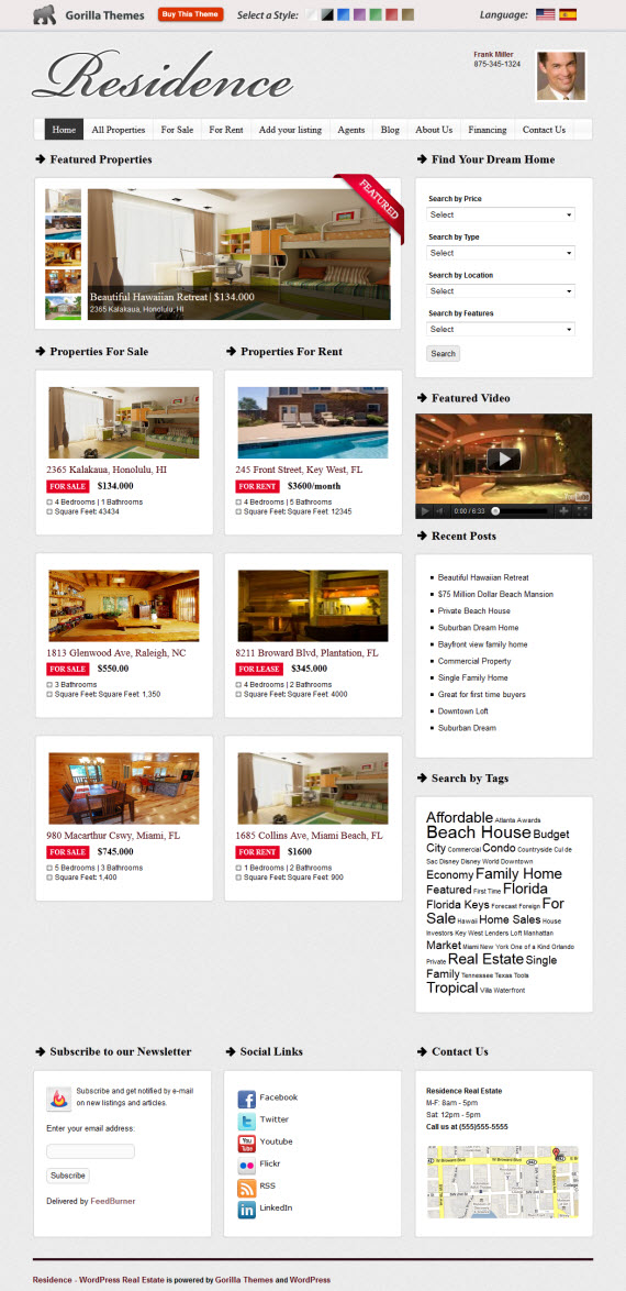 Residence WordPress Theme