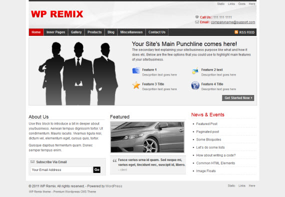 WP Remix WordPress Theme