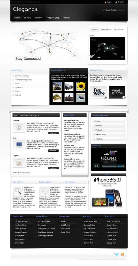 Elegance WordPress Theme
