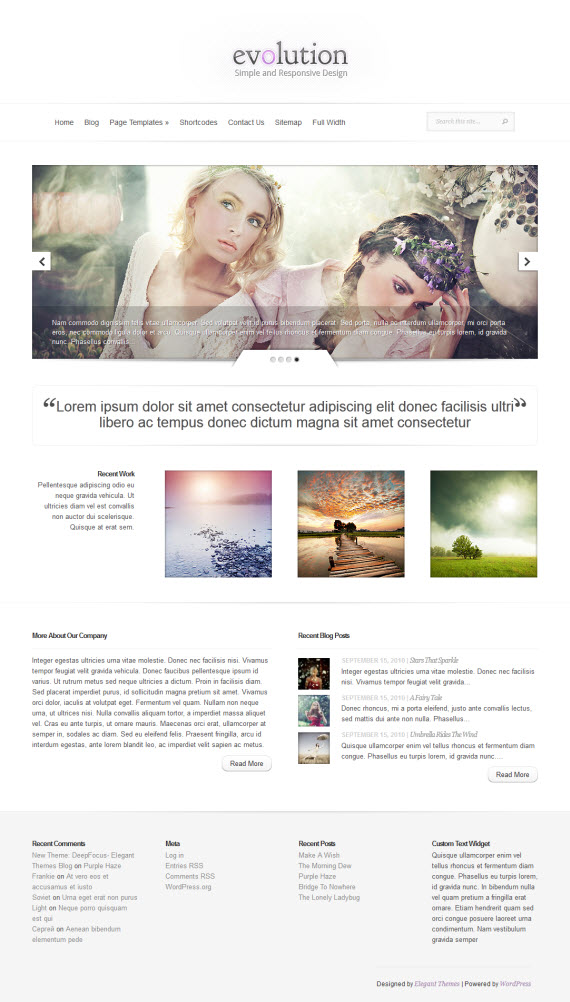 Evolution WordPress Theme