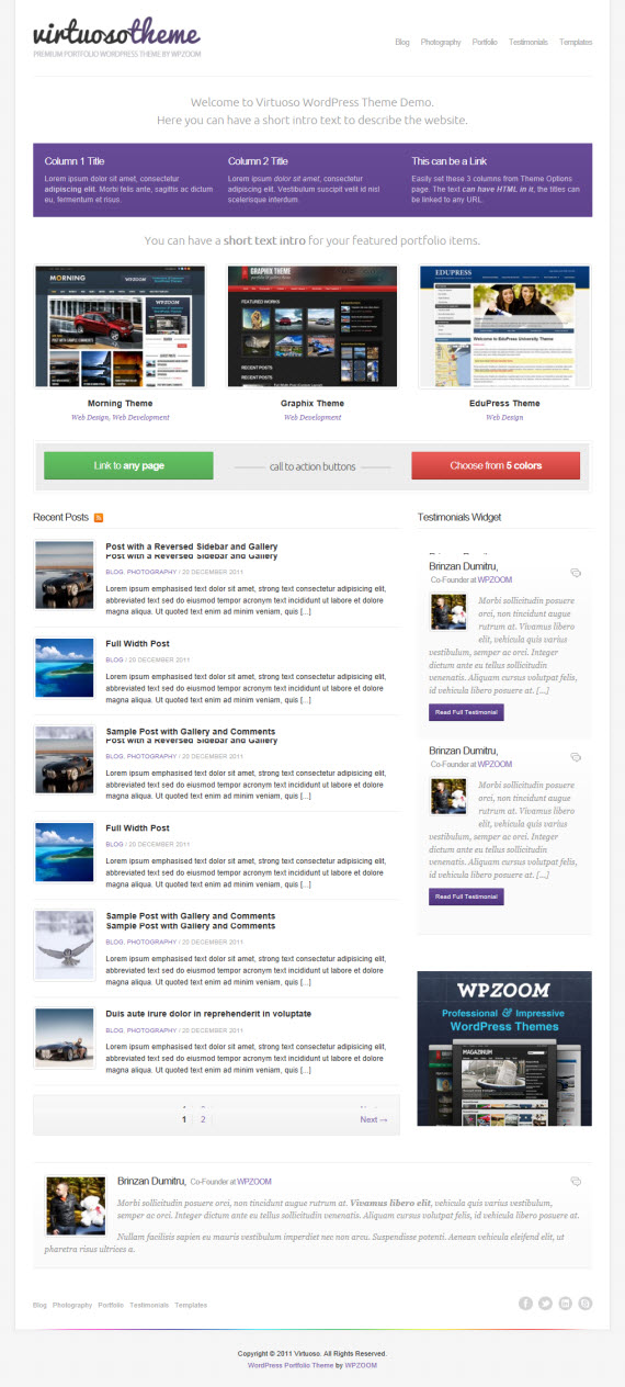Virtuoso WordPress Theme
