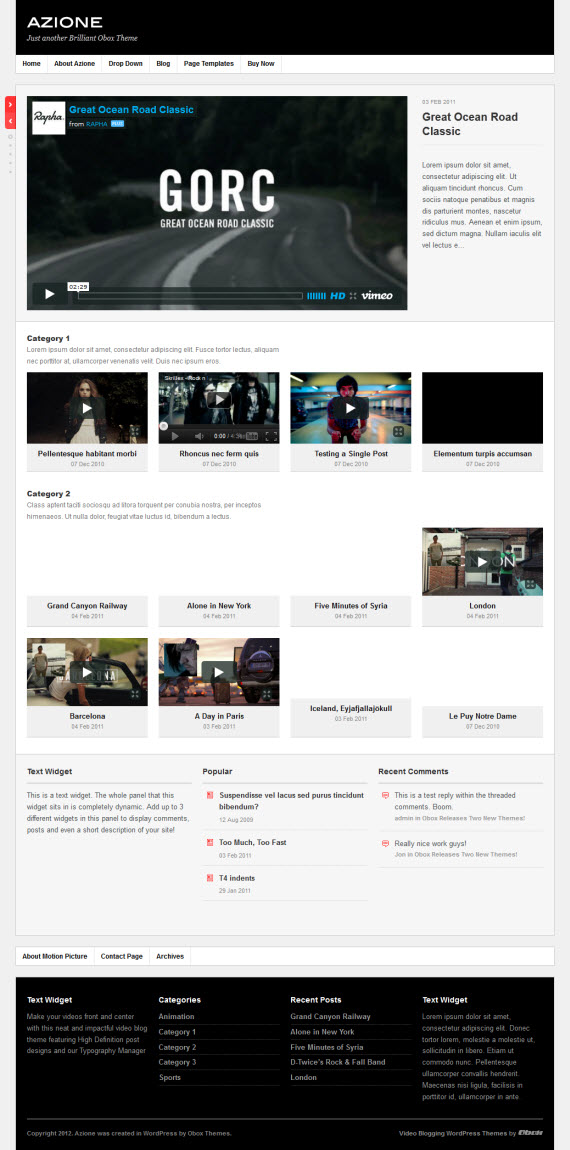 Azione WordPress Theme