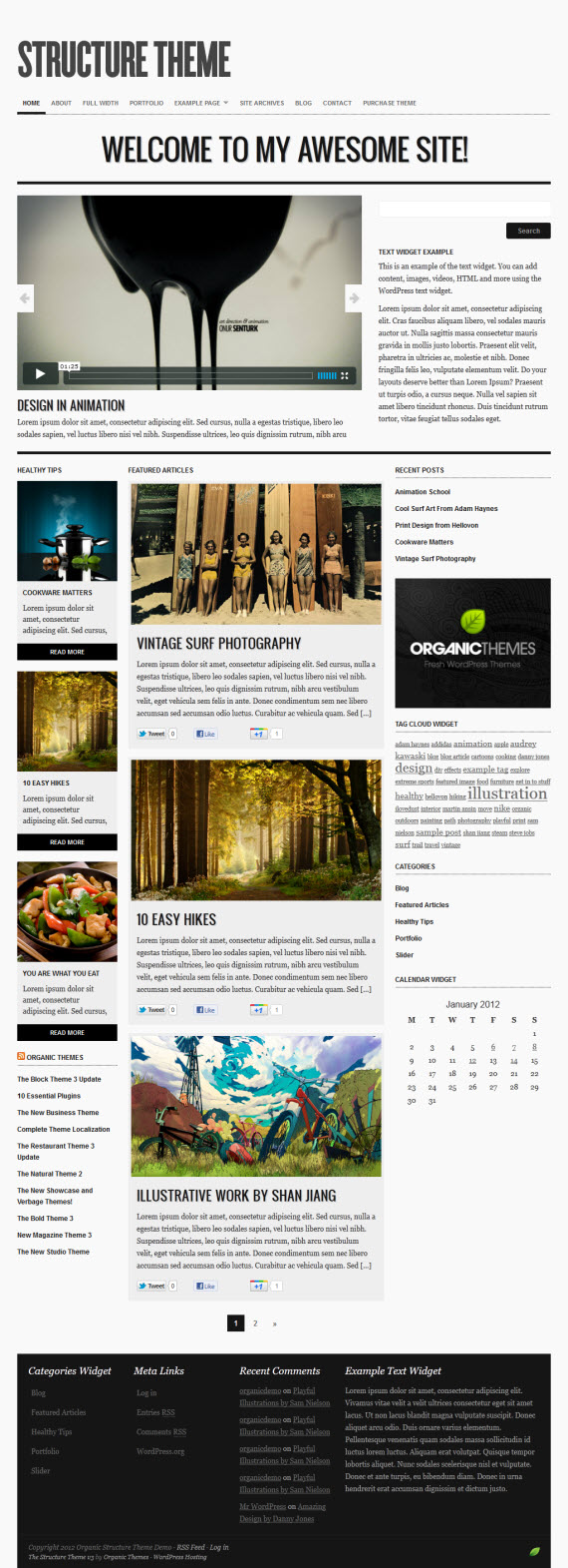 Structure 3.0 WordPress Theme