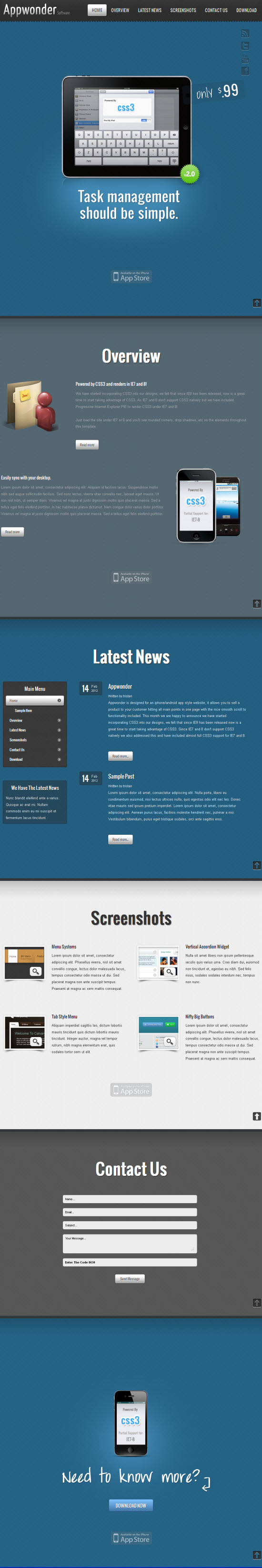 Appwonder WordPress Theme