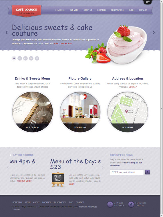 Coffee Lounge WordPress Theme