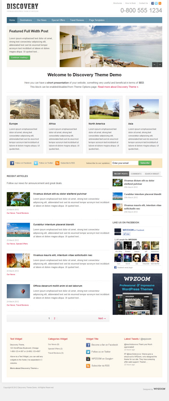 Discovery WordPress Theme