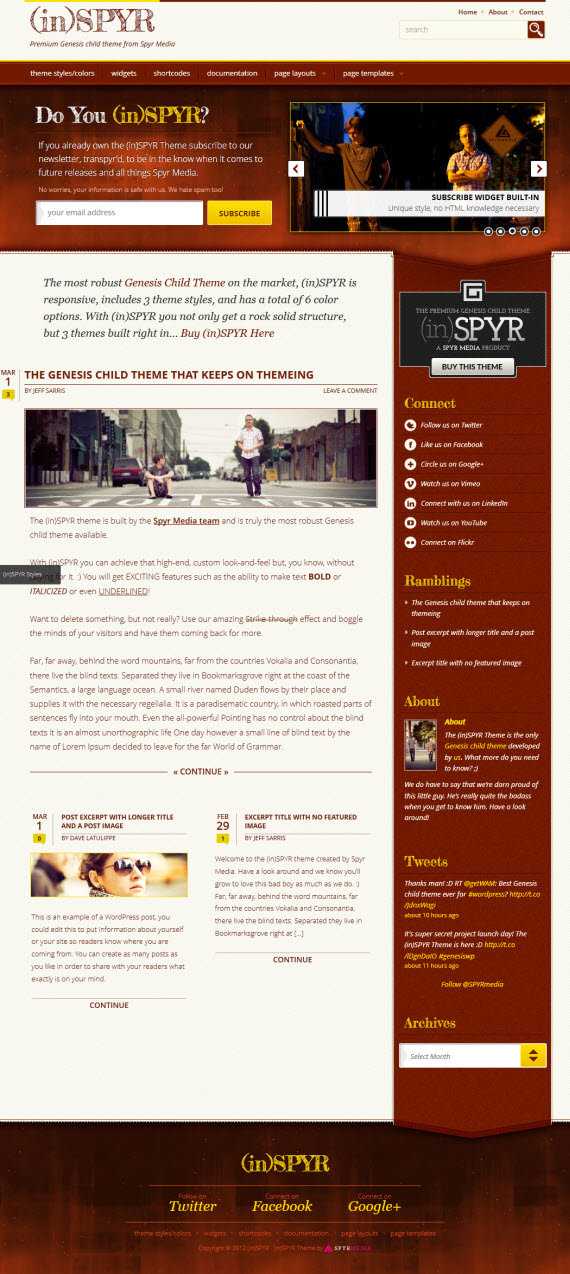 (in)SPYR Child WordPress Theme