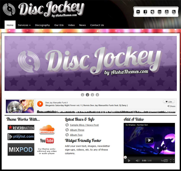 Disc Jockey WordPress Theme