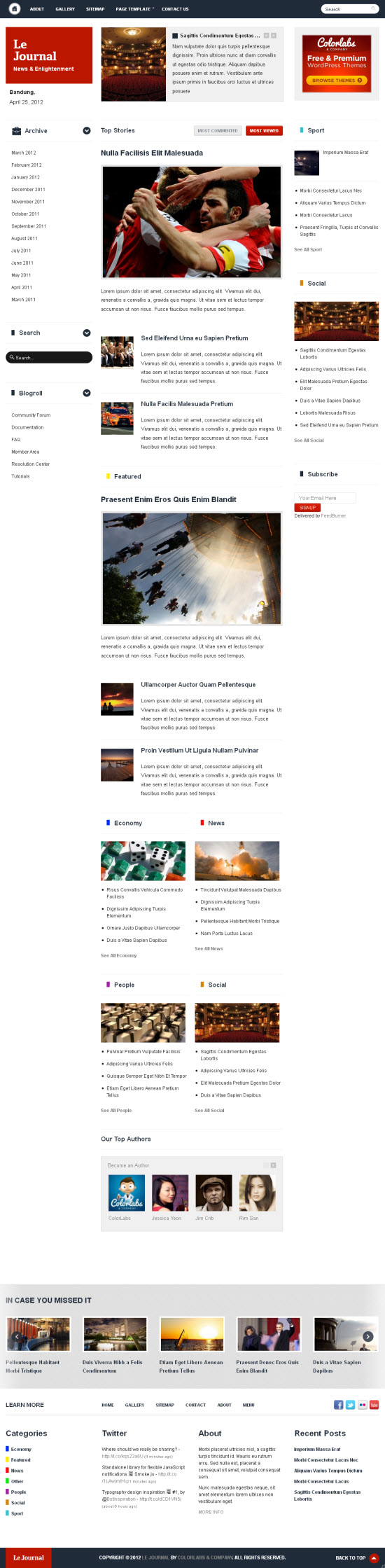 Le Journal WordPress Theme