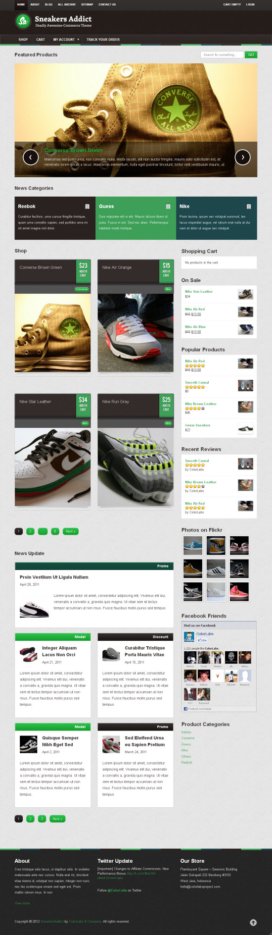 Sneakers Addict WordPress Theme