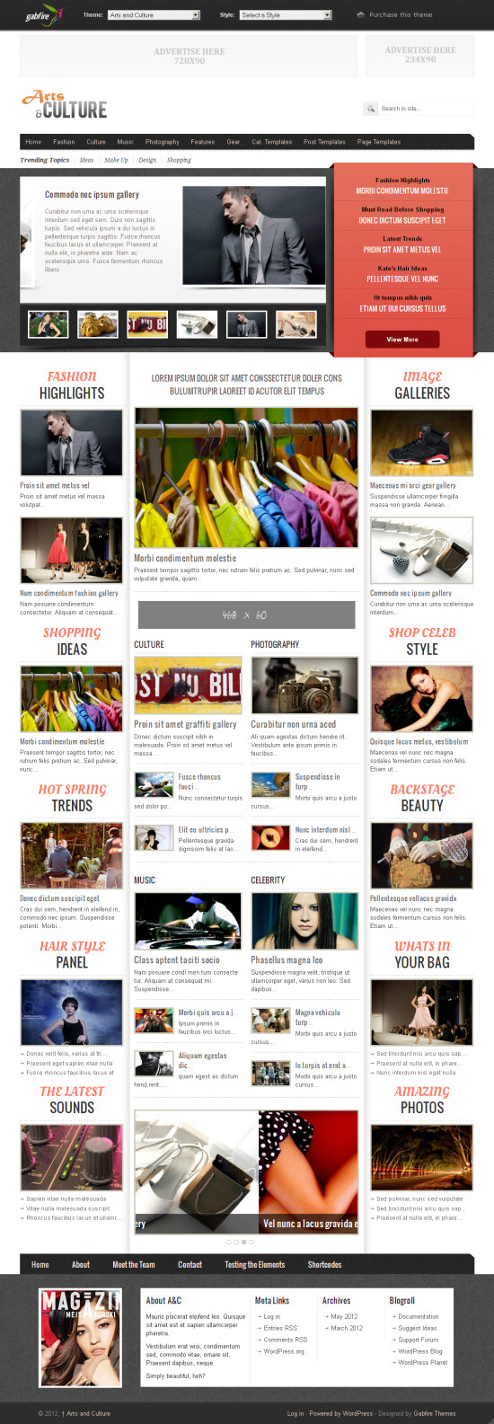 Arts and Culture WordPress Theme
