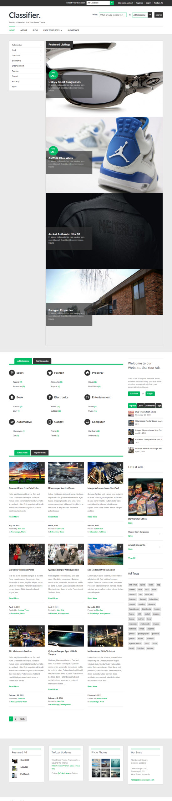 Classifier WordPress Theme