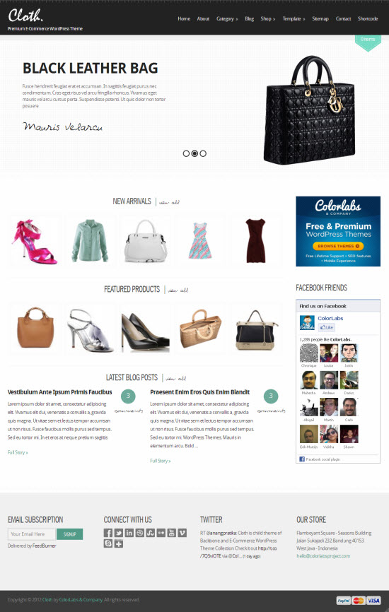 Cloth WordPress Theme