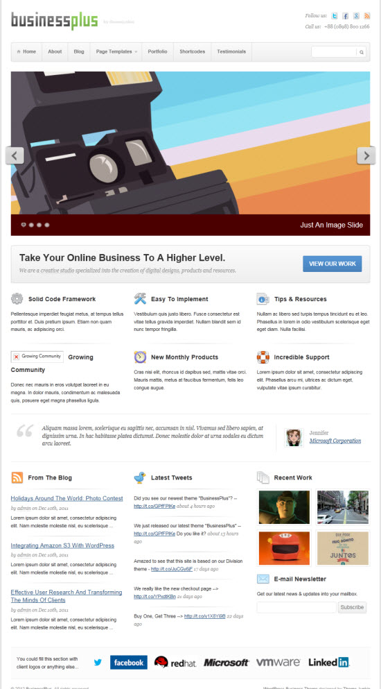 BusinessPlus WordPress Theme