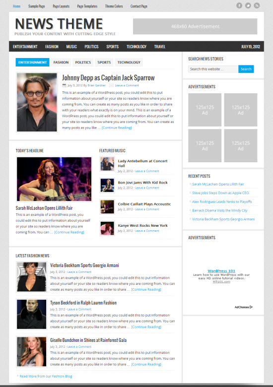 News 2.1 Child WordPress Theme