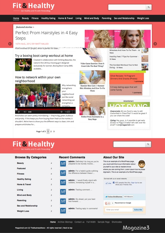 Fit&Healthy WordPress Theme