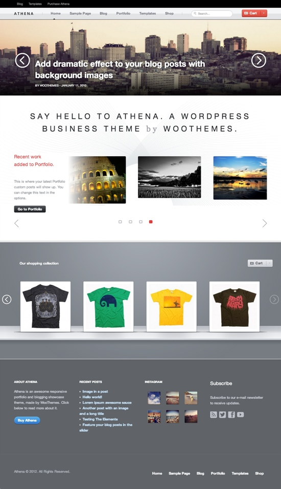 Athena WordPress Theme