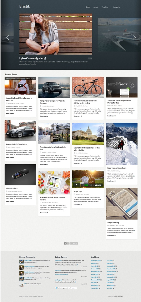 Elastik WordPress Theme