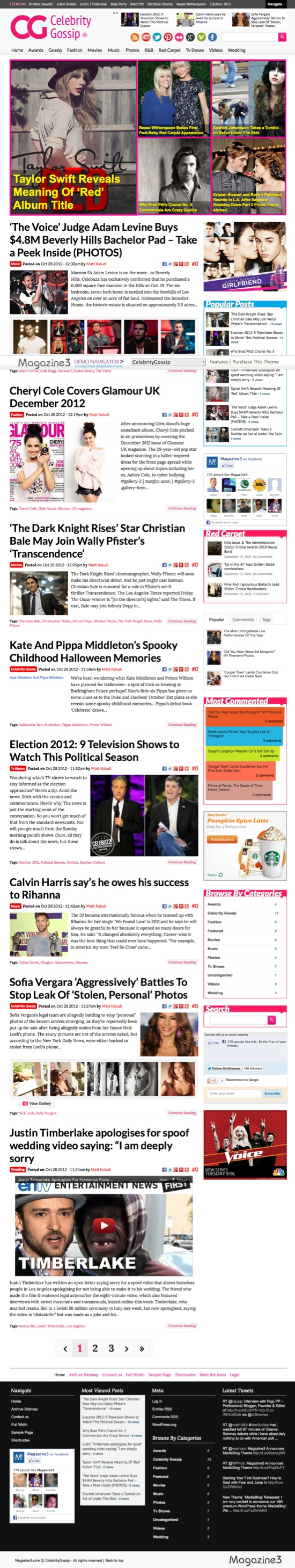 CelebrityGossip WordPress Theme