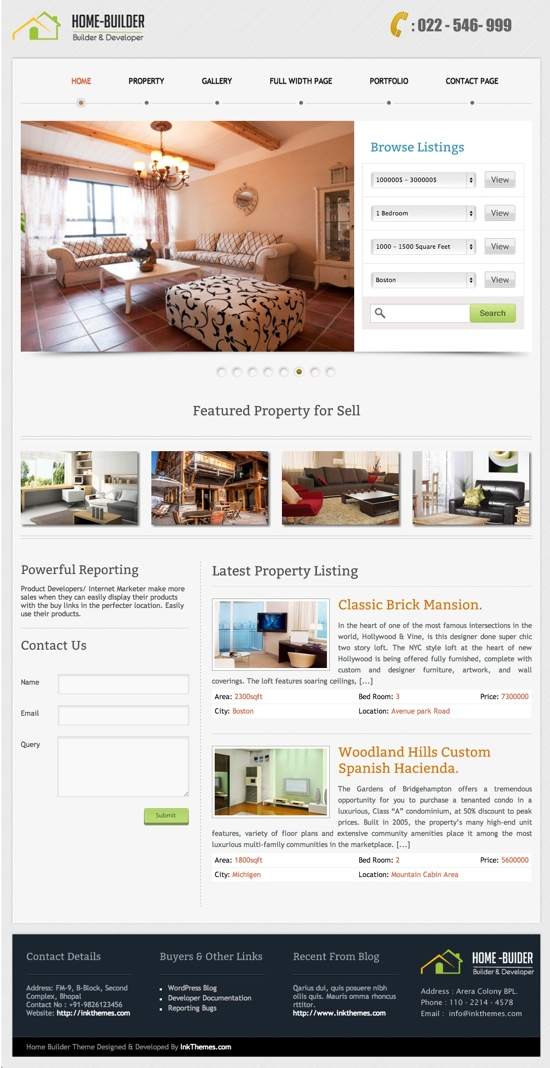 HomeBuilder WordPress Theme