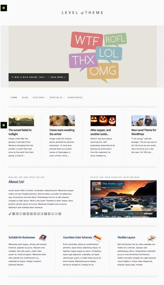 Level WordPress Theme
