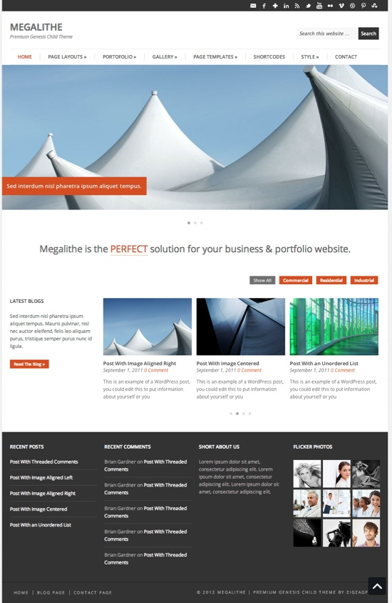 Megalithe Child WordPress Theme