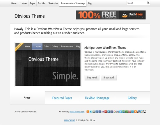 Obvious WP Theme - Business Style